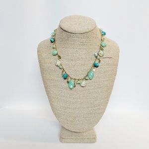 Ronit Nafshi Teal Glass Beaded Necklace Beachy!